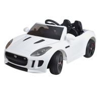 Электромобиль Shine Ring Jaguar F-Type SR218 (белый пластик)